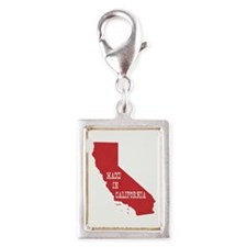 Made in California Silver Portrait Charm