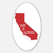 Made in California Sticker (Oval)