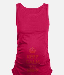 Keep Calm I'm An ENFP Maternity Tank Top