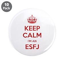 Keep Calm I'm An ESFJ Big Button 10 Pack