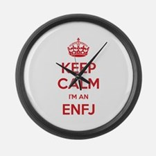 Keep Calm I'm An ENFJ Large Wall Clock