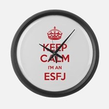Keep Calm I'm An ESFJ Large Wall Clock