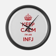 Keep Calm I'm An INFJ Large Wall Clock