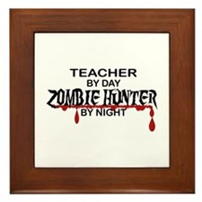 Zombie Hunter - Teacher Framed Tile