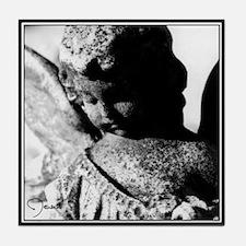 Southern Gothic Stone Angel Tile Coaster