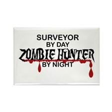 Zombie Hunter - Surveyo Rectangle Magnet (10 pack)