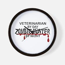 Zombie Hunter - Vet Wall Clock