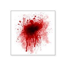 "Blood Splatter Square Sticker 3"" x 3"""