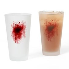 Blood Splatter Drinking Glass