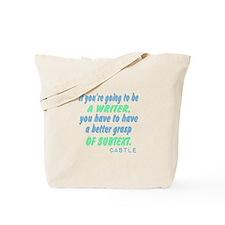 Castle Quote Subtext Tote Bag