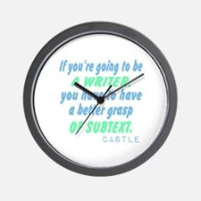 Castle Quote Subtext Wall Clock