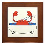 Crab in Bathtub Framed Tile