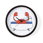 Crab in Bathtub Wall Clock