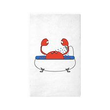 Crab in Bathtub 3'x5' Area Rug