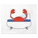 Crab in Bathtub King Duvet