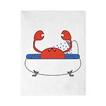 Crab in Bathtub Twin Duvet