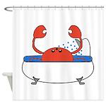 Crab in Bathtub Shower Curtain