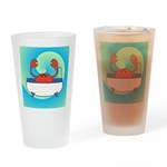 Crab in Tub (Blue Wave) Drinking Glass