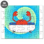 Crab in Tub (Blue Wave) Puzzle