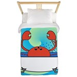 Crab in Tub (Blue Wave) Twin Duvet