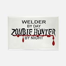 Zombie Hunter - Welder Rectangle Magnet