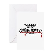 Zombie Hunter - Welder Greeting Card