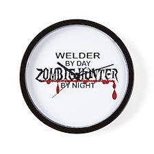 Zombie Hunter - Welder Wall Clock