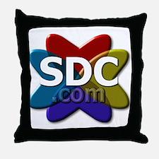 SDC logo Throw Pillow