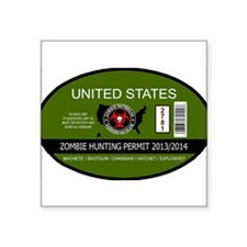 Zombie Hunting Permit 2013/201 Sticker