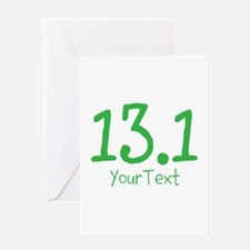 Customize GREEN 13.1 Greeting Cards