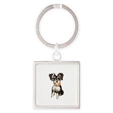 Schnauzer Pup (2) Square Keychain