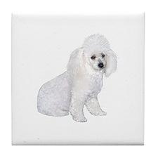 Poodle (W3) Tile Coaster