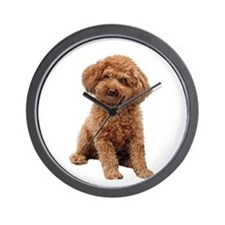 Poodle-(Apricot2) Wall Clock