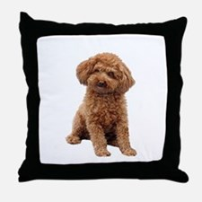Poodle-(Apricot2) Throw Pillow