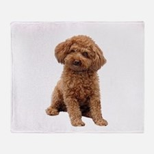 Poodle-(Apricot2) Throw Blanket