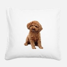 Poodle-(Apricot2) Square Canvas Pillow