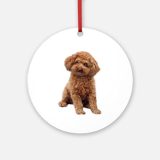 Poodle-(Apricot2) Ornament (Round)