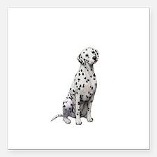 "Dalmatian #1 Square Car Magnet 3"" x 3"""