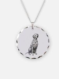Dalmatian #1 Necklace Circle Charm