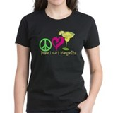 Peace love margarita women Women's Dark T-Shirt