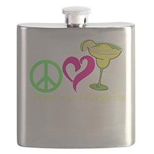 Peace Love & Margarita Flask