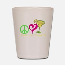 Peace Love & Margarita Shot Glass