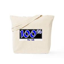100% Pro-Life Tote Bag