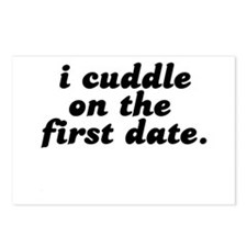 i cuddle on the first date . Postcards (Package of