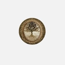 Tree of Life in Brown Mini Button