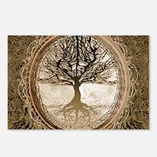 Tree of Life in Brown Postcards (Package of 8)