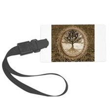 Tree of Life in Brown Luggage Tag