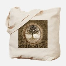 Tree of Life in Brown Tote Bag