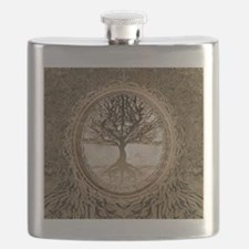 Tree of Life in Brown Flask