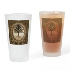 Tree of Life in Brown Drinking Glass